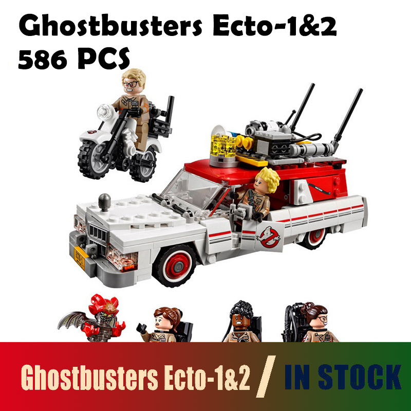Compatible with lego Movie Series 75828 Model Building Blocks 16032 586Pcs The Ghostbusters Ecto-1&2 Set With Le Bricks Toys lepin 16032 586pcs new genuine movie series the ghostbusters ecto 1