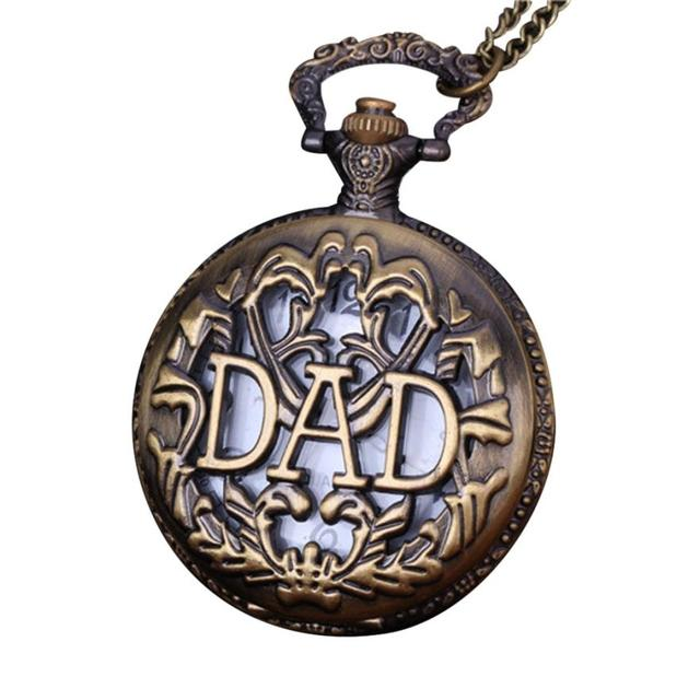 2017 Hot Sale Vintage Pocket Watch Chain Retro The Greatest Necklace For Grandpa
