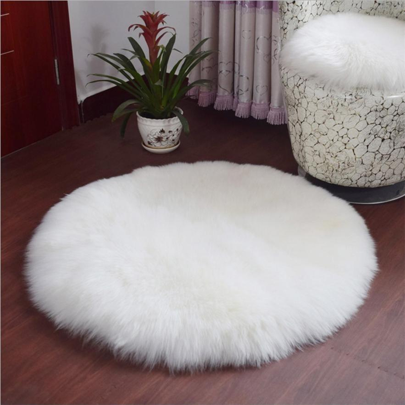 2018 New Soft Artificial Sheepskin Rug Chair Cover Artificial Wool Warm And Cozy Hairy Carpet Seat Pad 09