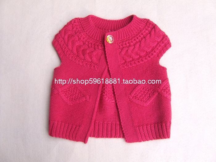New Hand Knitted Baby Wool Cardigan Sweater Vest Size 6 12 Months Apple  pattern Toddler clothing 3 color P01 -in Sweaters from Mother   Kids on ... a71dcb6c0