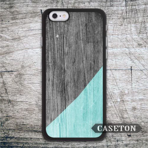 Mint with Wood Case For iPhone 7 6 6s Plus 5 5s SE 5c 4 4s and For iPod 5 Lovely Classic Phone Cover Free Shipping