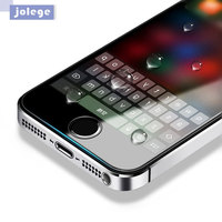 Jolege Tempered Glass For Iphone 5 5s 5c SE Screen Protector Protective Guard Film Case Cover
