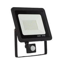 Светодиодный прожектор с датчиком движения, 10 Вт, 30 Вт, 50 Вт, 220 В, прожектор с отражателем foco, светодиодный наружный водонепроницаемый уличны...