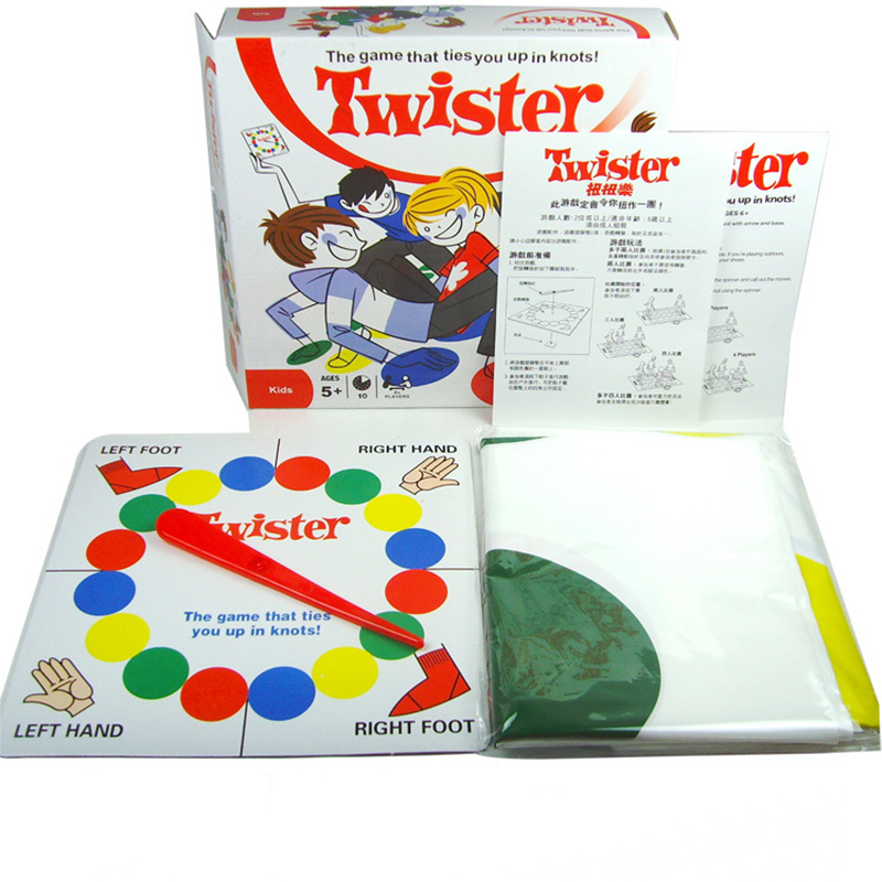 2017 America and Hot sale board game Twister Game That Ties You Up In Knots Board Games Party Family Children Friend Board Game