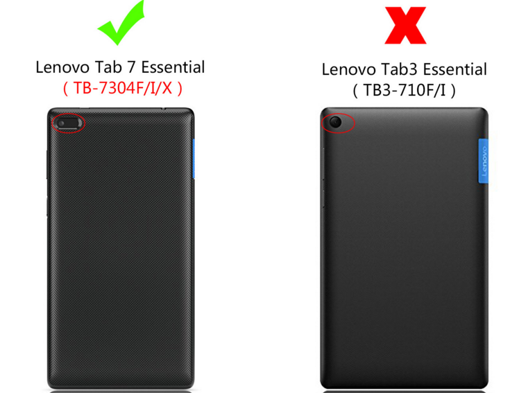حافظة شفافة من الكريستال لأجهزة Lenovo Tab4 Tab 4 7 من الضروري TB-7304 TB-7304F TB-7304I TB-7304X 7