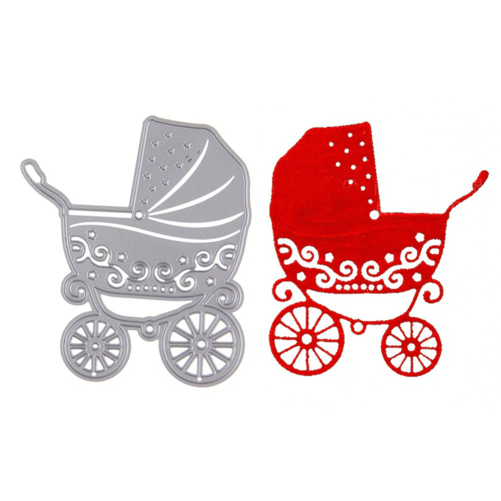 Scrapbook paper cart - 1pcs Metal Baby Stroller Embossing Cutting Dies Stencil Scrapbooking Decorative Diy Craft Cart Decor China