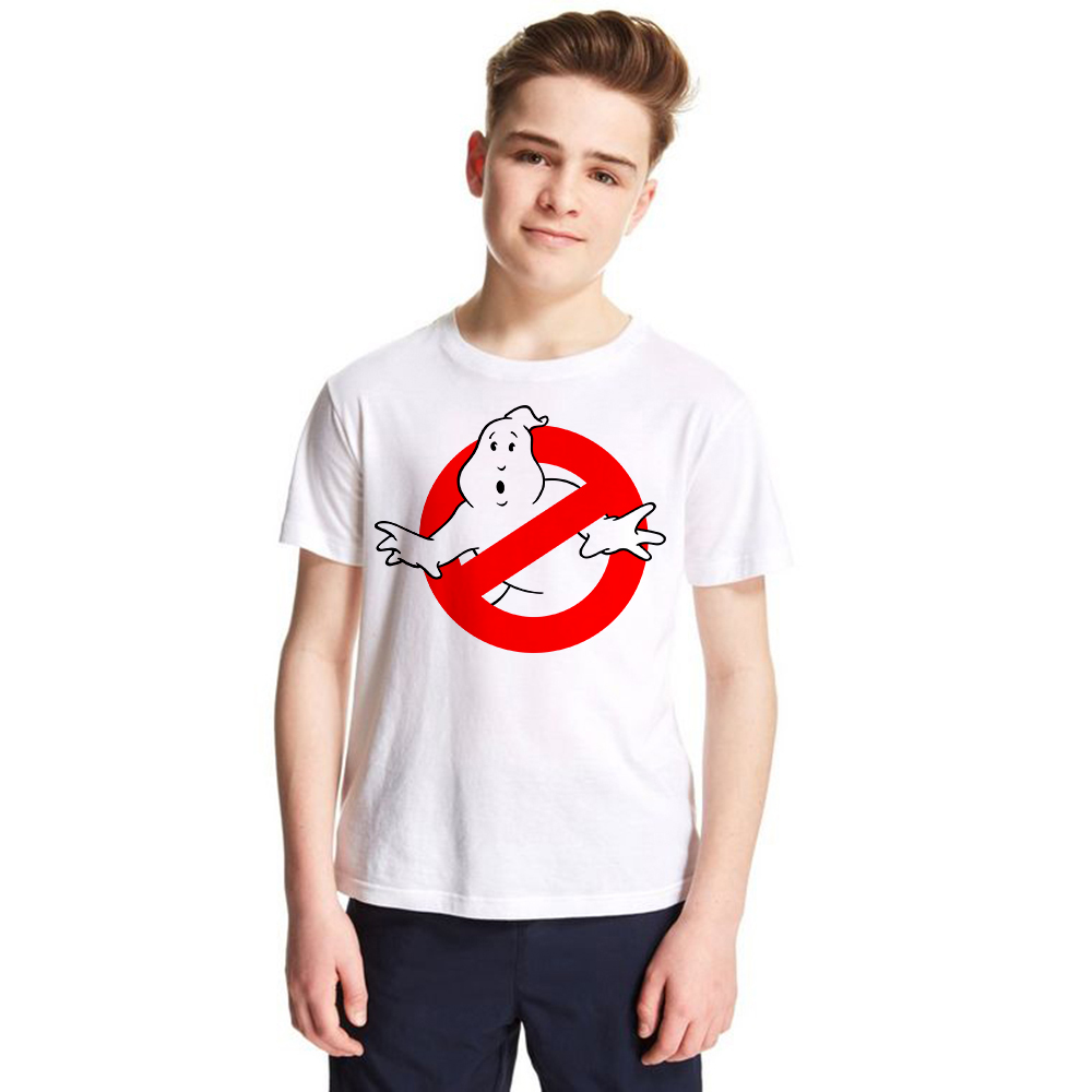 1-12Y Unisex Children Ghost Busters T Shirt Boys and Girls Tshirts Casual Short Sleeve T ...
