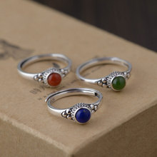 FNJ 925 Silver Lapis Ring for Women Jewelry Natural Red Agat