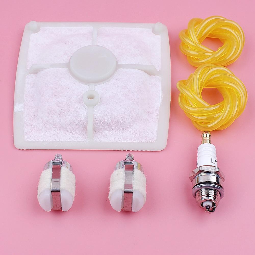 Mangueira de Linha de Combustível Filtro de ar Parte da Ferramenta Kit para Stihl Spark Plug Patrão Fazenda Motosserra Substituição Spare 041 041av