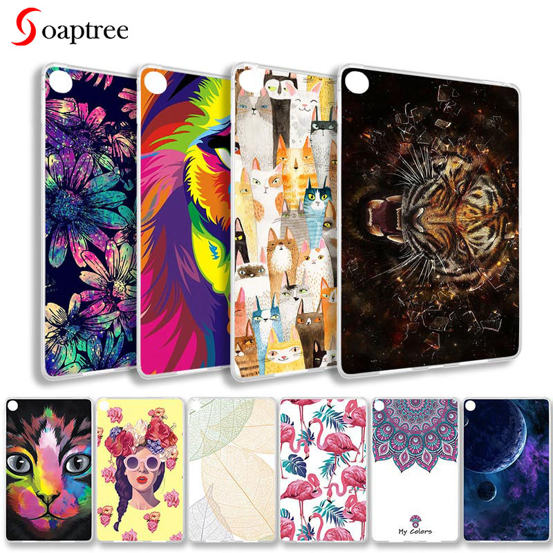 Fashion Painted Cases For Xiaomi Mi Pad 4 8.0 Case 8.0 Inch Soft Silicone Cartoon Animals Protective Covers Shell Coque Funda
