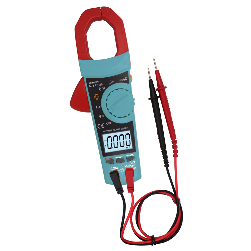 RICHMETERS 902 Digital Clamp Meter Auto-ranging multimeter AC DC Voltage Temperature  цены