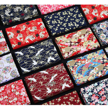 (50 cm/lot) bronzed printed cotton fabric for sewing kimono cloth vintage fabrics ethnic fat quarter quilting table cloth chipao 1 meter printed cotton fabric for sewing blend linen material ethnic fabrics table cloth 59 inches vintage style