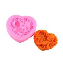 цена на 20PCS/Lot Rose Angel Craft Art Silicone Soap Mold 3D Craft Molds DIY Fimo Resin Clay Candle Molds Fondant Handmade Soap Moulds