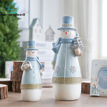 Strongwell Snowman Ceramic Ornaments Nordic Minimalist Sculpture Home Decoration Handmade Wedding Gifts ChildrenS Jewelry Craft