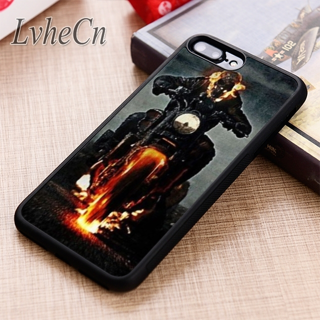 LvheCn Ghost Rider Motorcycle Skull Death phone Case cover For iPhone 6 6S 7  8 X XR XS max 5 5S SE Galaxy S6 S7 edge S8 S9 Plus-in Fitted Cases from ... 249d3e603aef