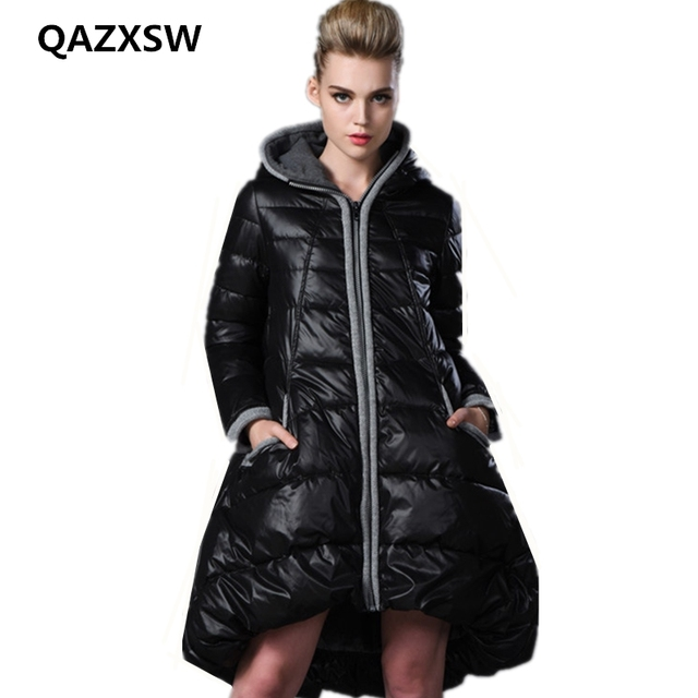 Big Sale 2018 New Fashion Hooded Parkas Winter for Women Large Size Thick Warmth Winter Womens Long Coat Casual Solid Cotton Jacket CZ193