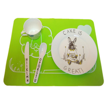 40*30cm Cute Cartoon Animal Lion Silicone Coasters Mat Foldable Placemats Waterproof Heat Resistant Non Slip Dinner Table Mats artificial leather placemats non slip placemats bowls coasters waterproof table mats heat insulated table mats