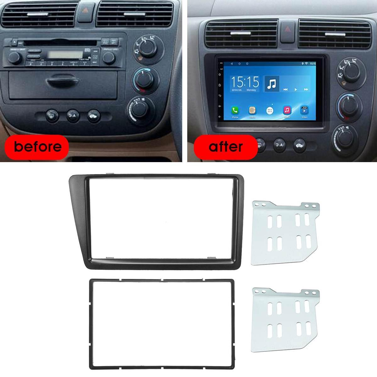 2001 2002 2003 2004 2005 Honda Civic Dash Kit Double Din Stereo Install