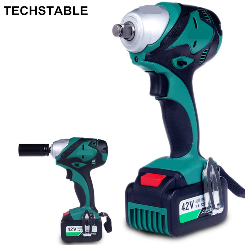 TECHSTABLE Electric Wrench Impact Wrench Scaffolding Worker Brushless Power Tool Lithium Rechargeable Wrench самосвал big power worker kipper 56836