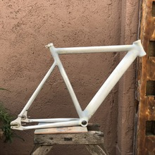 700C Fixed Gear bike frame 54cm RAW   Smooth Welding  Bike frame Aluminum Alloy frame 2015 top quality 54cm smooth welding track bike fixed gear bicycle frame frame and fork together free shipping