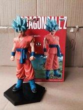 2015 Japanese Anime Action Figure Dragon Ball Saiyan Goku Pvc Figure Cartoon Hot Toys 18cm Toys Kid Gift Free Shipping