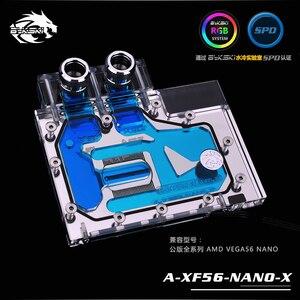 Bykski A-XF56-NANO-X bloc de refroidissement par eau GPU pour AMD RX VEGA 56