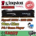 Kingston Hyperx DDR4 SALVAJE Juego Reproductor de memoria RAM de escritorio 16 GB 32 GB 2666 MHz No ECC DIMM de 288 Pines memoria de la computadora computador