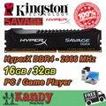 Kingston Hyperx SAVAGE Game Player desktop memory RAM DDR4 16GB 32GB 2666 MHz Non ECC 288 Pin DIMM memoria computer computador