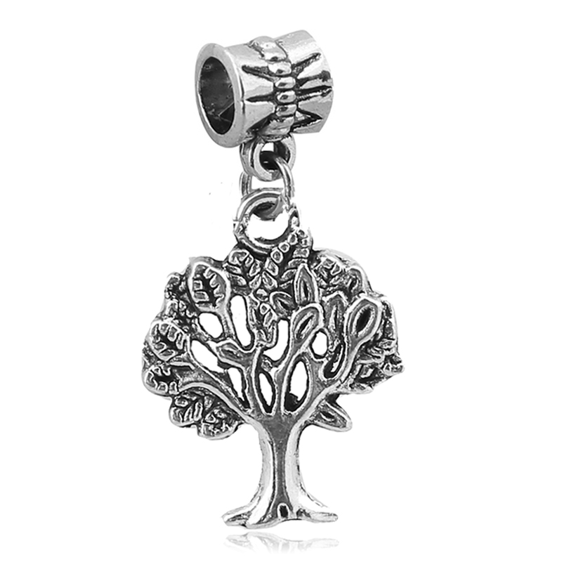 1PC Family Tree Pendant Charms Silver Dangle Bead For European Pandora Charm DIY Pulseras Womens bracelets
