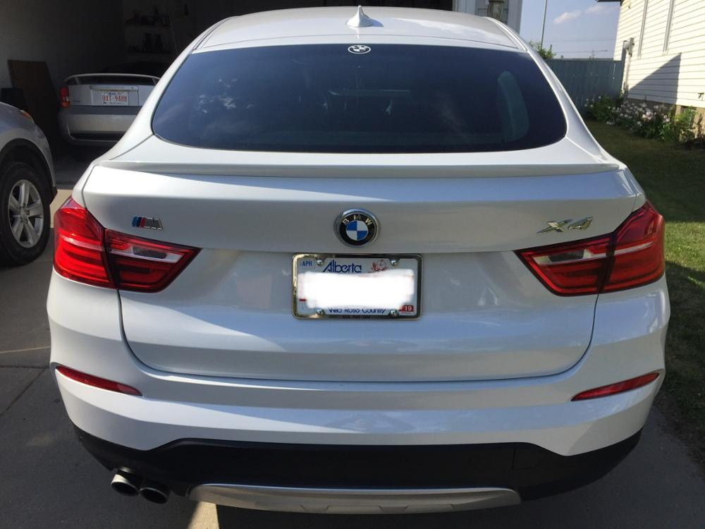 For BMW F26 X4 Spoiler M style High Quality ABS Material Car Rear Wing Primer Color Spoiler For BMW X4 F26 Spoiler 2015 2018 in Spoilers Wings from Automobiles Motorcycles