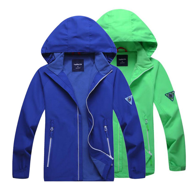 Для мальчиков и девочек осень детская куртка со съемным капюшоном осенне-зимняя верхняя одежда ветровка ветрозащитное пальто Детская куртка с капюшоном для детей