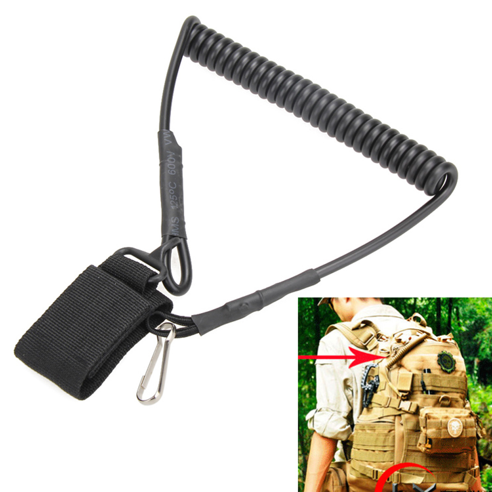 Multi-function Molle Tactical Safety Rope Backpack Accessories Retractable Key Chain Buckle Rope Outdoor Practical Travel Kits