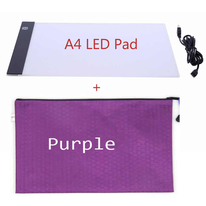 a4 led lightpad bag daimond painting Accessories storage holder Carry Case Holder Handbag Zipper forEmbroidery mosaic tools gift