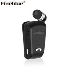Fineblue mini fone de ouvido bluetooth l18, fone de ouvido esportivo com clipe telescópico para fones de ouvido estéreo com microfone csr8615