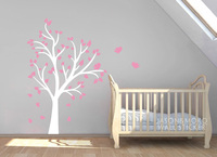 Baby Nursery Wall Decals Tree and Birds Wall Decal Vinyl Wall Sticker Home Decor 180*180CM Home Decoration
