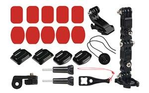 Image 5 - Base de suporte de capacete para frente, fivela em forma de j, suporte de montagem para gopro hero 5 6 7 4 xiaomi kits yi 4k sjcam go pro