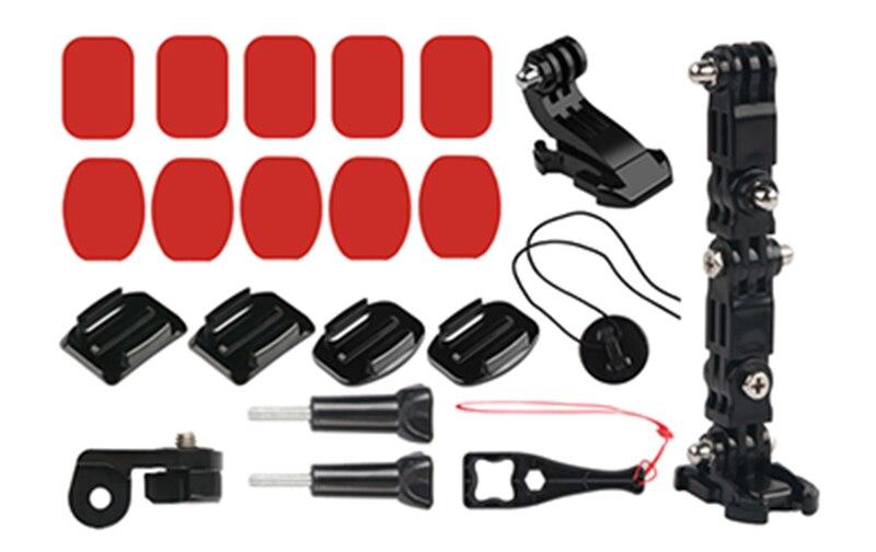 Image 5 - Передняя сторона шлем аксессуары набор j образная Пряжка база Поддержка крепление для GoPro Hero 5 6 7 4 Xiaomi Yi 4K SJCAM Go Pro наборы-in Чехлы для спортивных видеокамер from Бытовая электроника