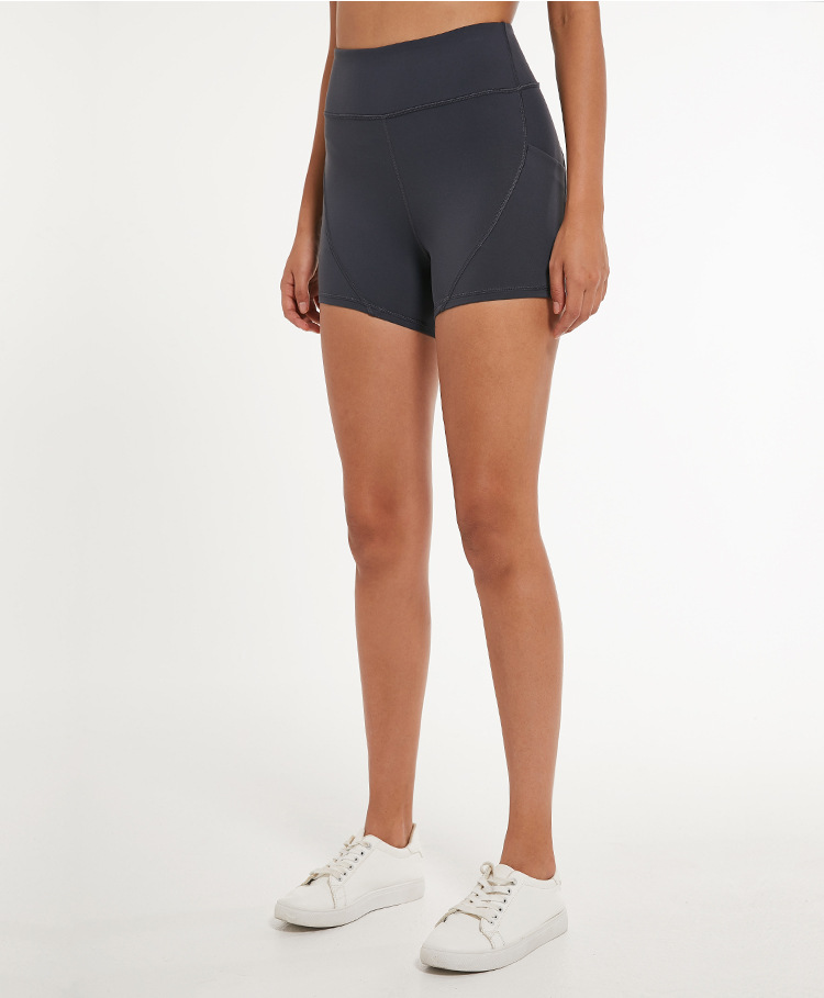 Tummy-Control High-Waist Sports Shorts With Phone Pocket