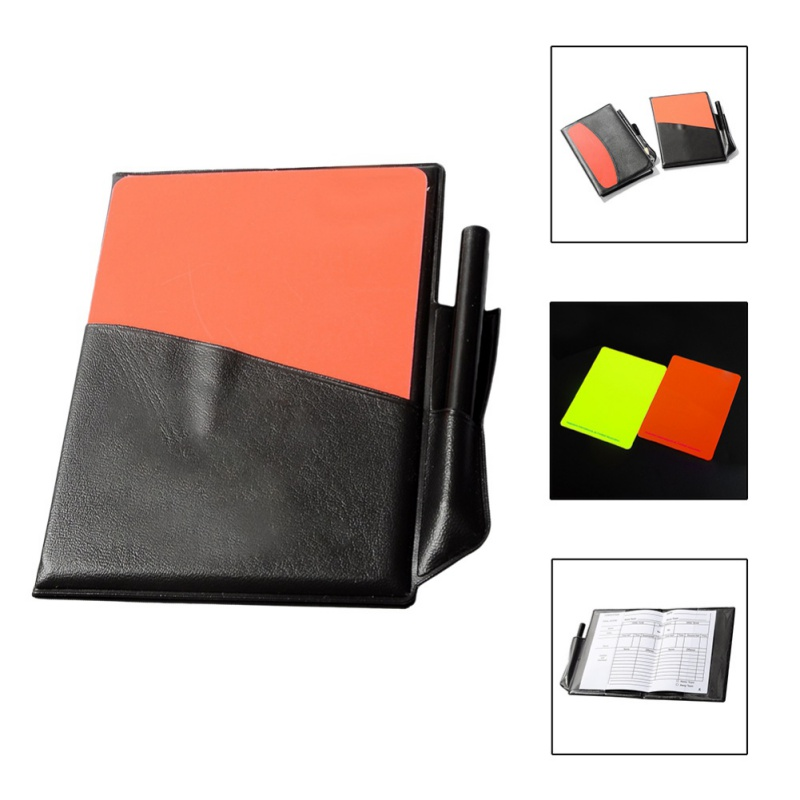 Soccer Referee Sport Wallet With Red Yellow Card Pencil Sports Notebook Personalized Sport Match Soccer Sheet Set Note Notebook