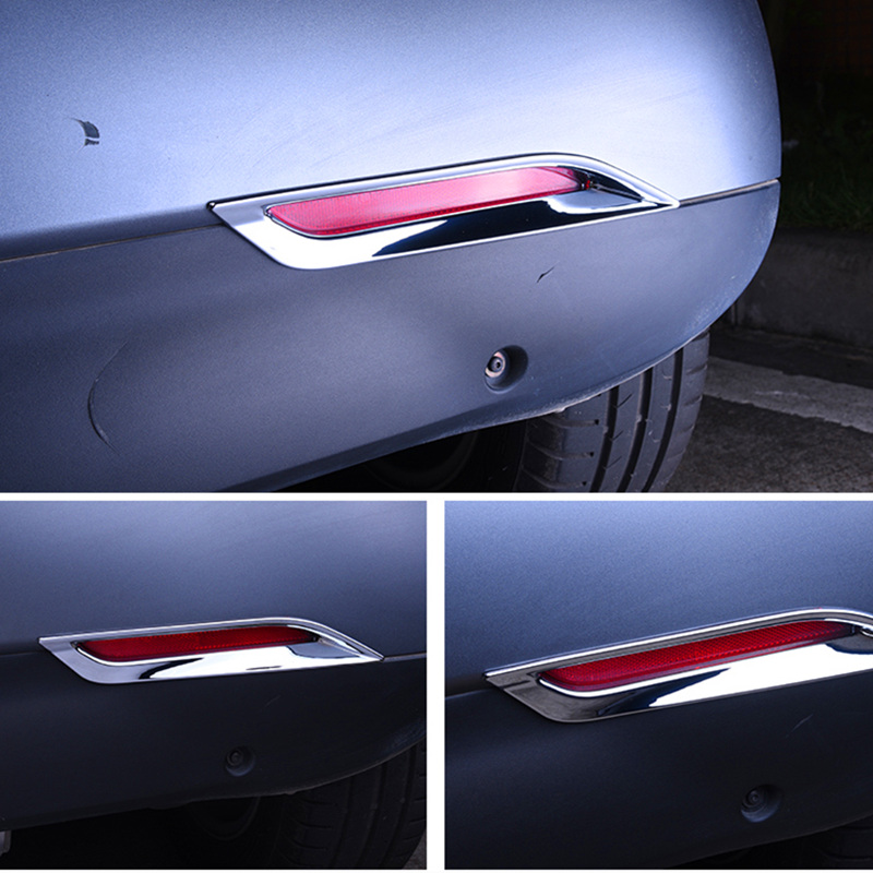 For smart 453 Fortwo car accessoroy ABS chrome trim rear lamp decoration sticker Rear fog lamps styling