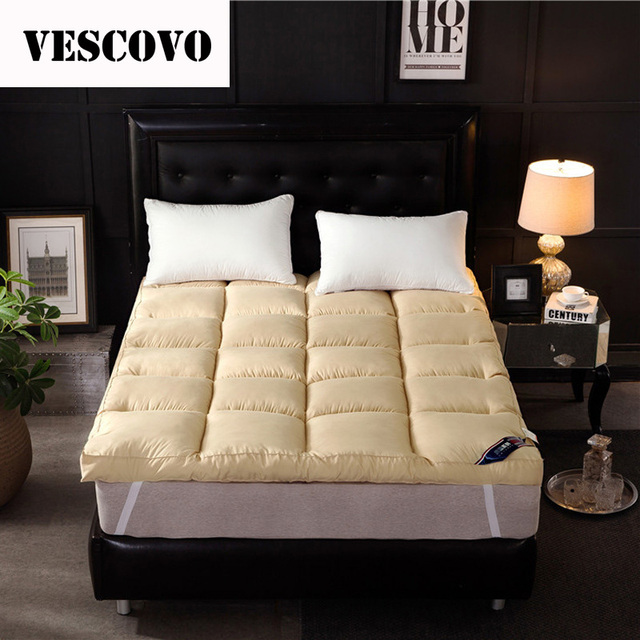 2018 Luxury Goose Down/Feather/Polyester Fibre Massage Mattress Topper White Single Double Dormitory Mattress Tatami Mat