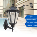 120LM Outdoor LED Solar Garden Wall Light Waterproof Porch Lamp for Garden Decoration Path Home Yard Street Lamps Aluminum 120LM
