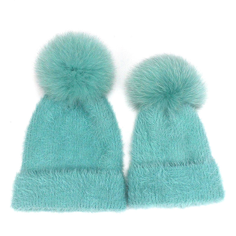 756c7329cf2 Aliexpress.com   Buy Casual Solid White Black Green Red Rabbit Fur Beanie  Hat Female Real Fox Fur Pom Pom Skullies Caps Winter Warm Soft Knitted Hat  from ...