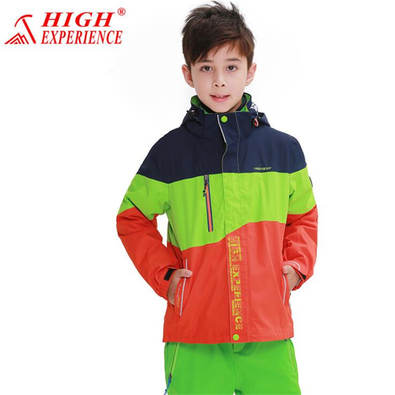 Outdoor Mountaineering Clothing Children Jacket ski-wear Kids Outerwear Student Coat Boy Girl Jacket Spring Autumn цена