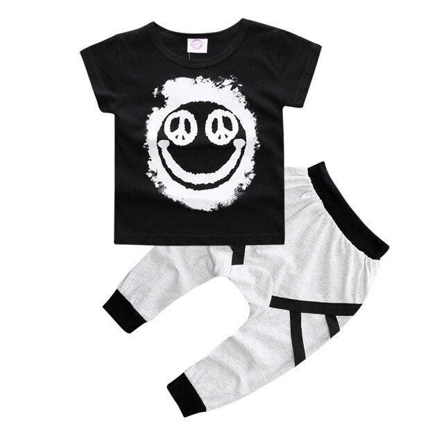2792267a964be US $10.0  Sommer Neue Mode rock punk stil Kleinkind baby mädchen Kleidung  Set tscheiße Mit Pluderhosen 2 Stück Set Einzelhandel in Sommer Neue ...