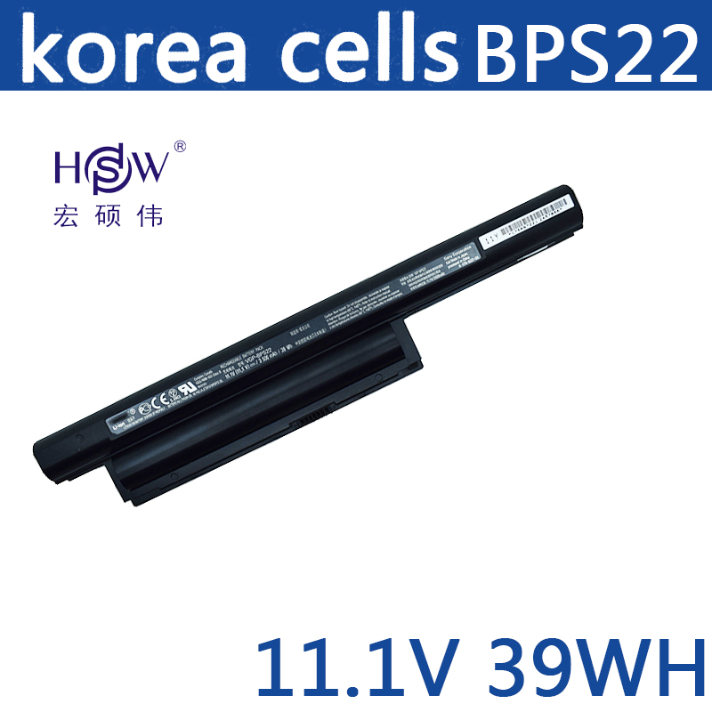 HSW laptop battery for BPS22 VGP-BPS22 VGP-BPL22 VGP-BPS22A VGP-BPS22/A notebook battery for SONY VAIO E bateria akku цена 2017