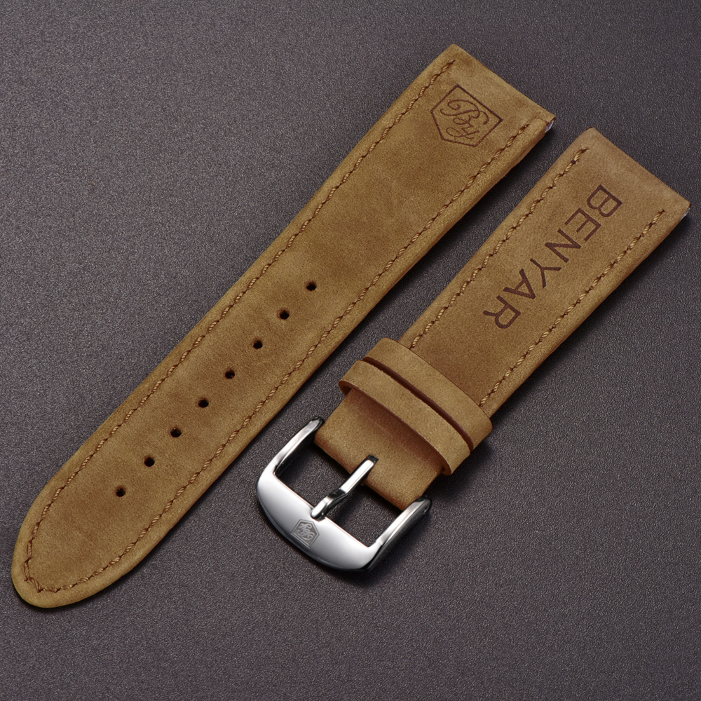 Original-BENYAR-Watchbands-Leather-Strap-For-BY-5102M-Watch-Band-Width-22mm-for-BY-5104M
