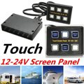 Capacitive Touch Screen Panel Set 6 Gang 12v 24V 10A Car RV Marine Boat Caravan Circuit Control Box Black Waterproof