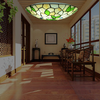 wholesale Tiffany ceiling lamp, living room light LED restaurant, bedroom, circular corridor staircase ceiling lamp
