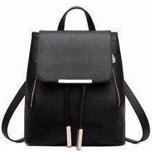 Black School Supplies font b Backpack b font Female PU Leather font b Backpack b font
